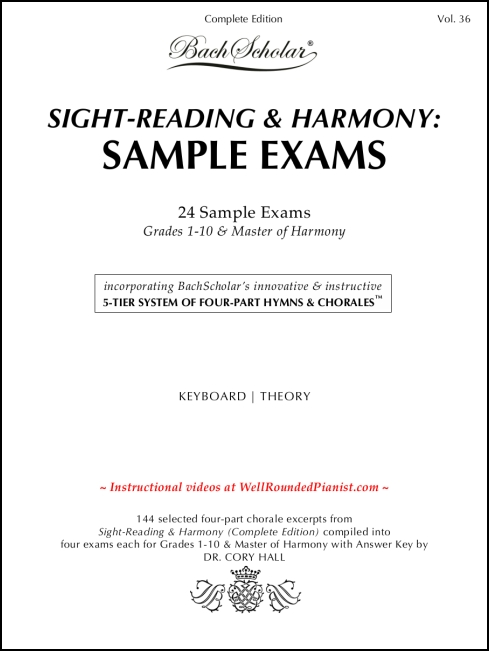 Sight-Reading & Harmony: Sample Exams (Bachscholar Edition Vol. 36) for Keyboard / Theory
