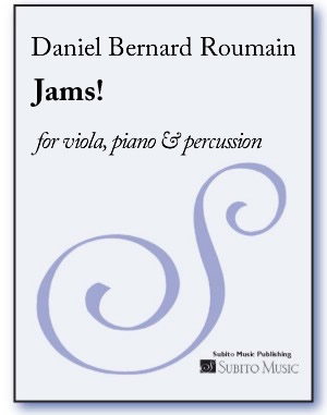 Jams! for viola, piano & percussion