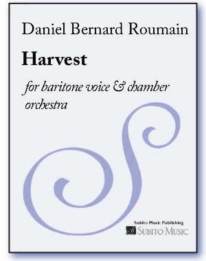 Harvest for baritone voice & chamber orchestra