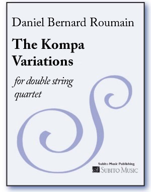 Kompa Variations, The for double string quartet