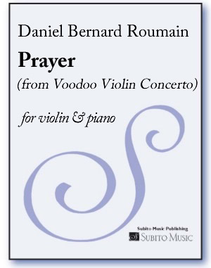 Prayer (from Voodoo Violin Concerto ) for violin & piano