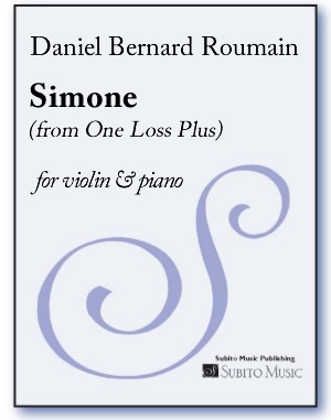 Simone (from One Loss Plus ) for violin & piano