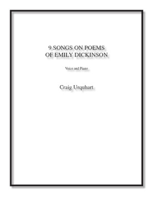 Songs on Poems of Emily Dickinson for voice & piano