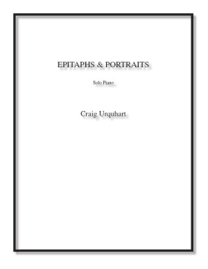 Epitaphs & Portraits for solo piano
