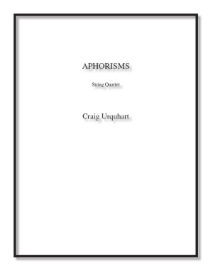 Aphorisms for string quartet