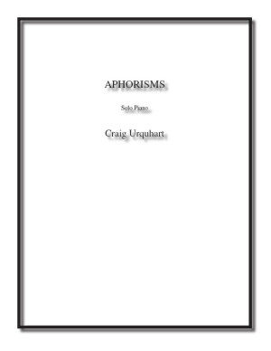 Aphorisms for solo piano