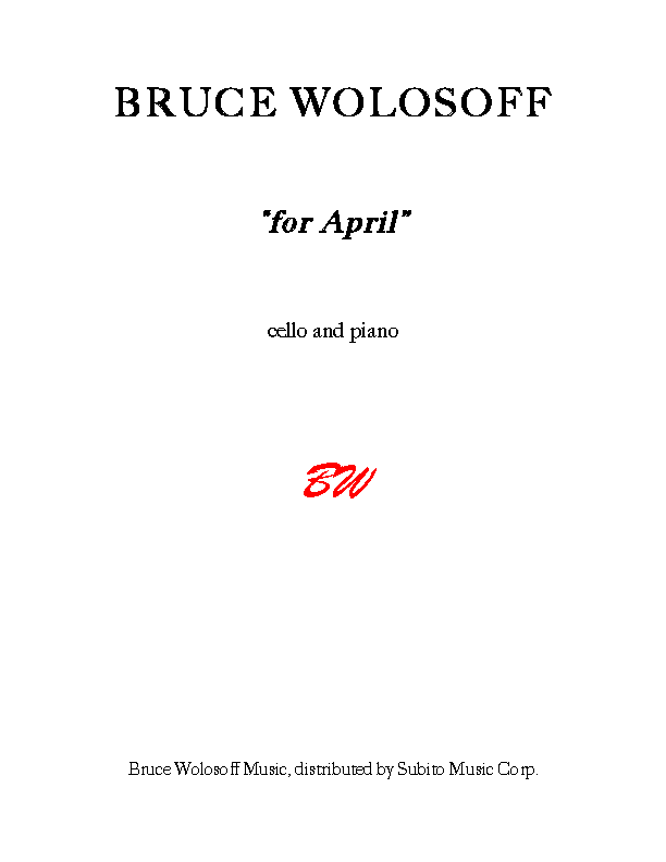 """for April"" for Violoncello & Piano"