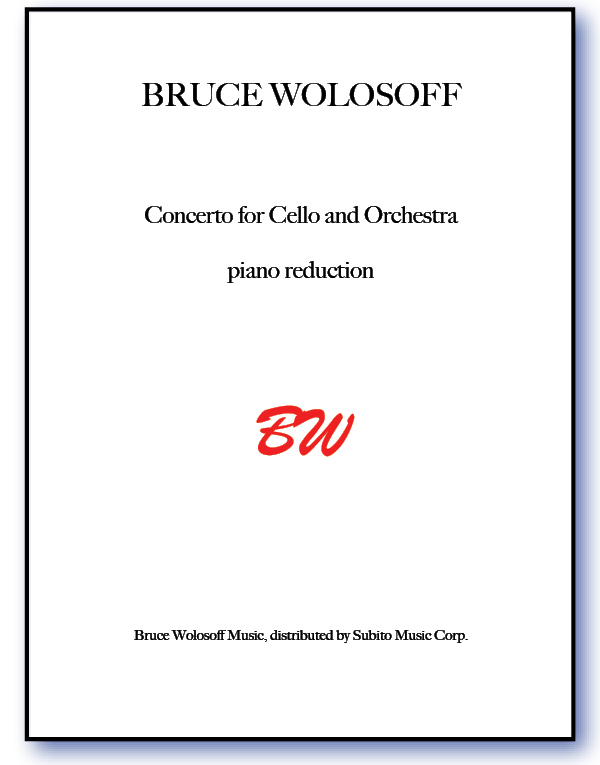 Concerto for Cello & Orchestra Piano reduction & Part
