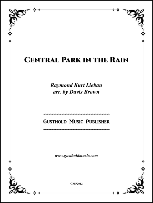Central Park in the Rain (new edition) for Piano Solo