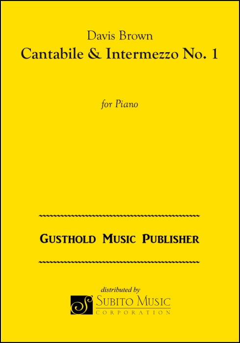 Cantabile & Intermezzo No. 1 for Piano