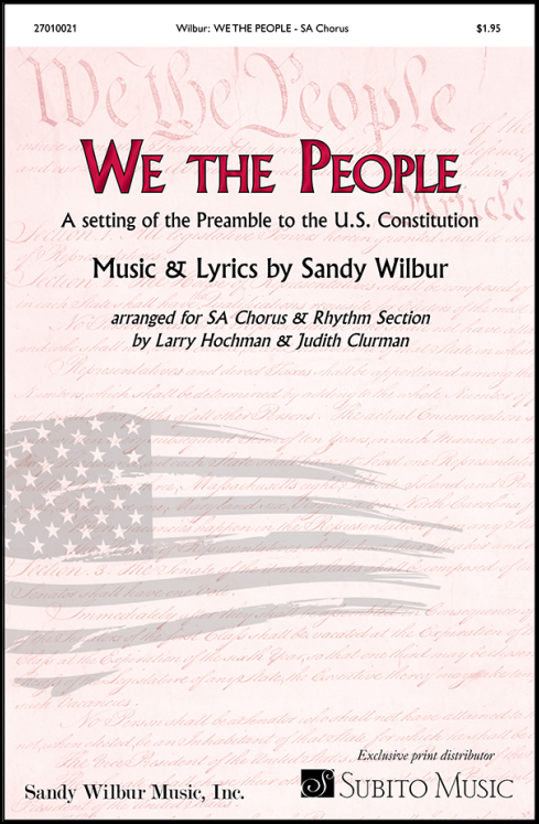 We the People for SA Chorus & Piano (with opt. Synthesizer, Guitar, Bass, Drums)