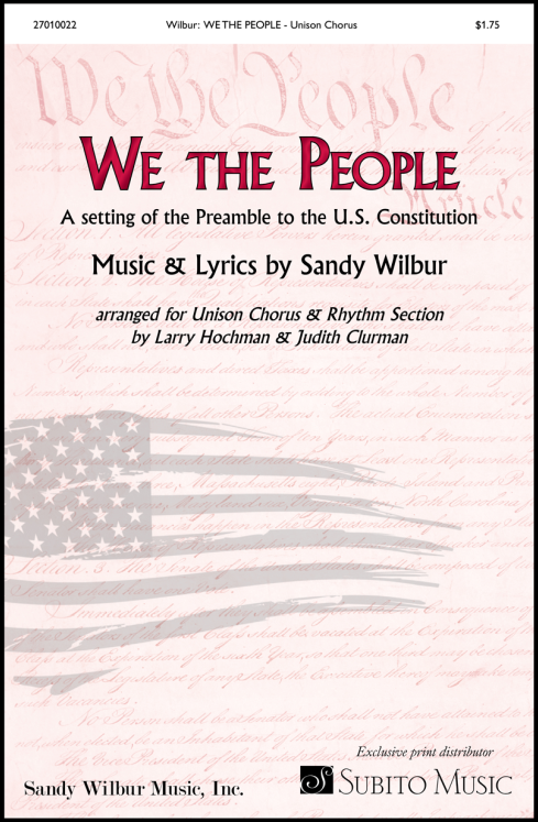 We the People for Unison Chorus & Piano (with opt. Synthesizer, Guitar, Bass, Drums