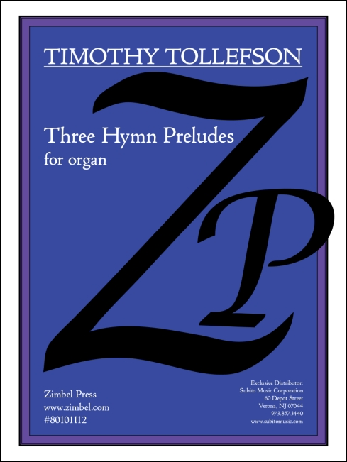 Hymn Preludes, Three for organ