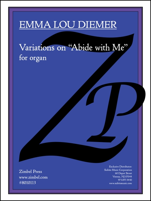 Variations on Abide with Me for organ