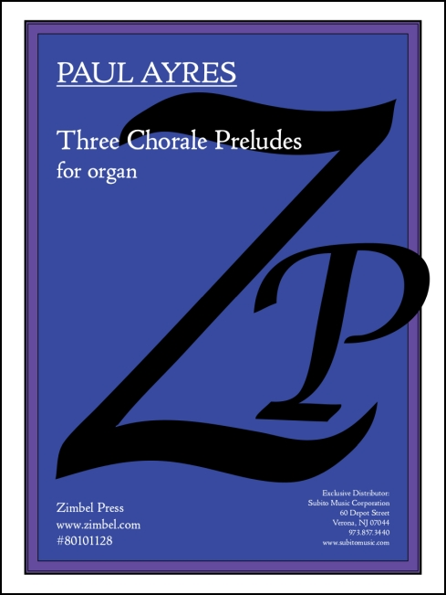 Chorale Preludes, Three for organ - Click Image to Close