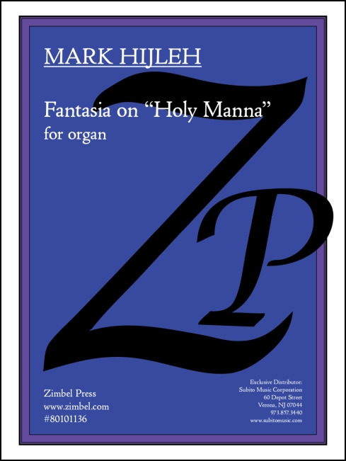 Fantasia on Holy Manna for organ