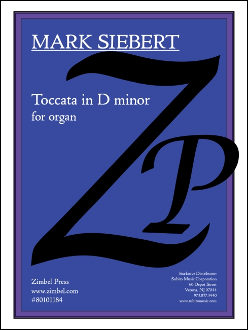 Toccata in D minor for organ - Click Image to Close