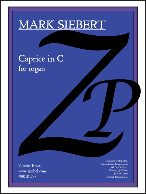Caprice in C for organ