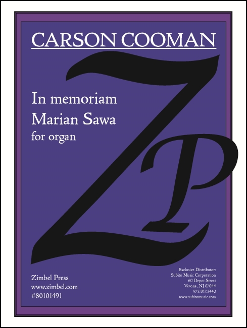 In memoriam Marian Sawa for Organ