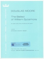 Ballad of William Sycamore, The for bass, flute, trombone & piano