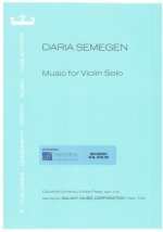 Music for Violin Solo