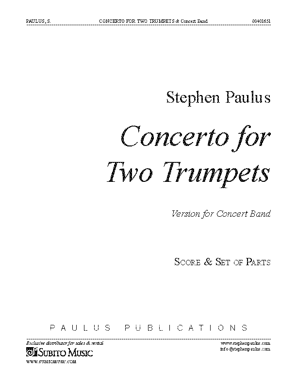 Concerto for Two Trumpets (Band Version)