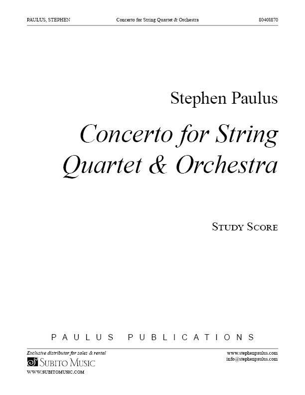 Concerto for String Quartet for String Quartet & Orchestra