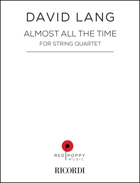 almost all the time, score for string quartet