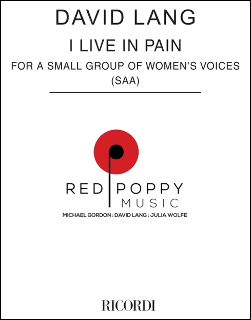 I Live in Pain for Women's Voices, SAA