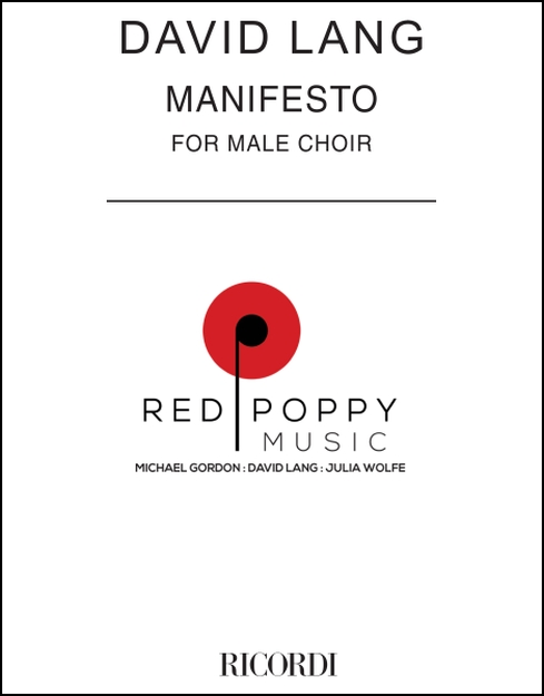 manifesto for Male Choir