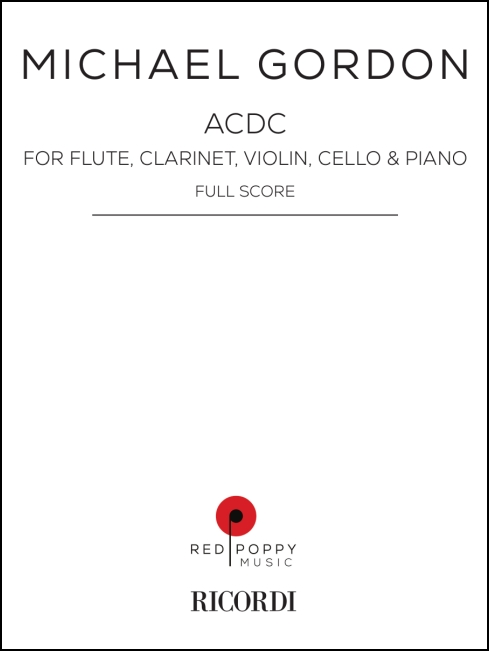 acdc, score for flute, clarinet, piano, violin and violoncello