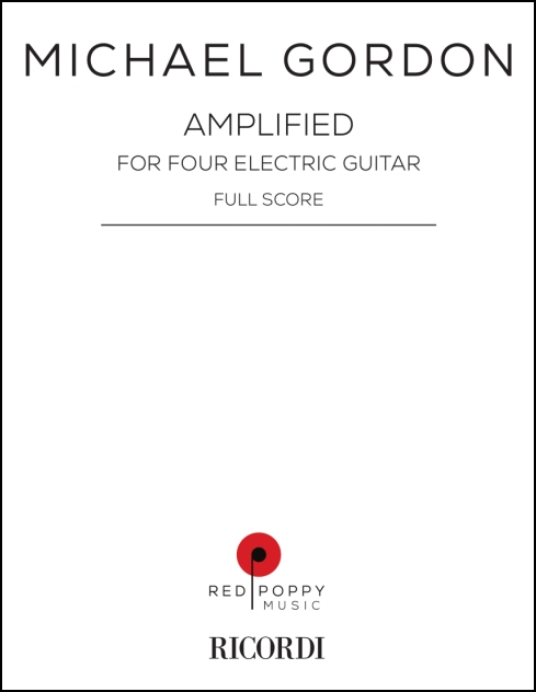 Amplified, score for guitar quartet