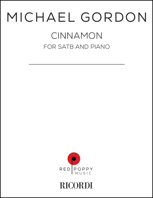 Cinnamon for choir SATB and piano