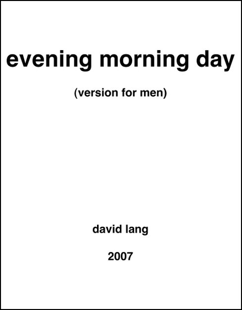 evening morning day for Men's Chorus