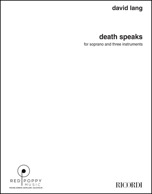 death speaks, parts for Soprano, Violin, Electric Guitar, Piano