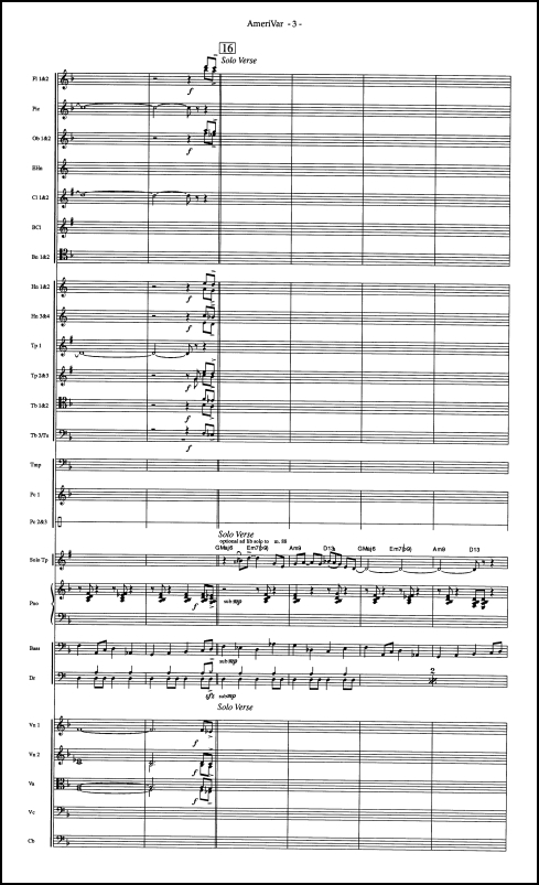 American Variations on Swing Low, Sweet Chariot for trumpet & orchestra - Click Image to Close
