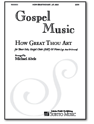 How Great Thou Art for Gospel Choir, Piano, Bass & Drums