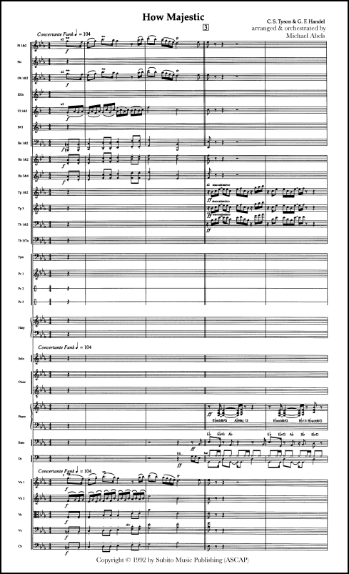 How Majestic for SAT (opt B) chorus & orchestra - Click Image to Close
