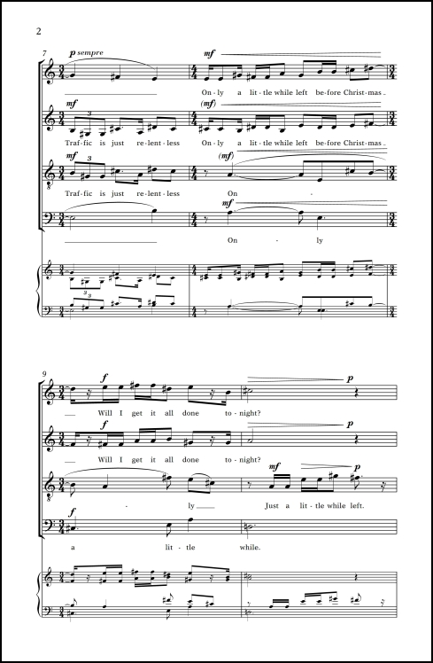 Christmas Cards: 1. Everything's All White for SATB chorus, a cappella - Click Image to Close