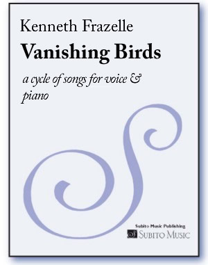Vanishing Birds a cycle of songs for voice & piano