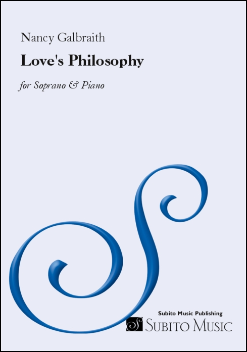 Love's Philosophy for soprano & piano