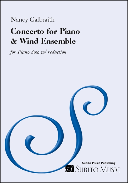 Concerto for Piano & Wind Ensemble Piano Solo w/ reduction