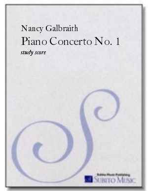 Piano Concerto No. 1 for piano & orchestra