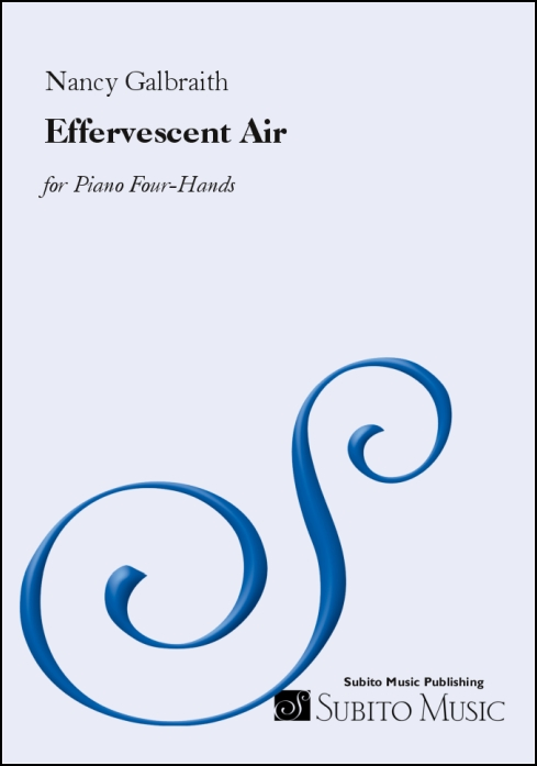 Effervescent Air for Piano Four-Hands - Click Image to Close