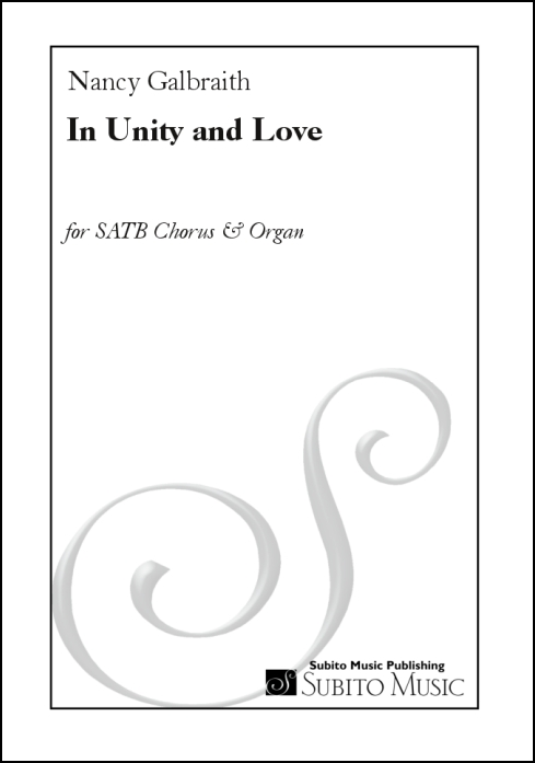 In Unity and Love for SATB chorus & organ - Click Image to Close