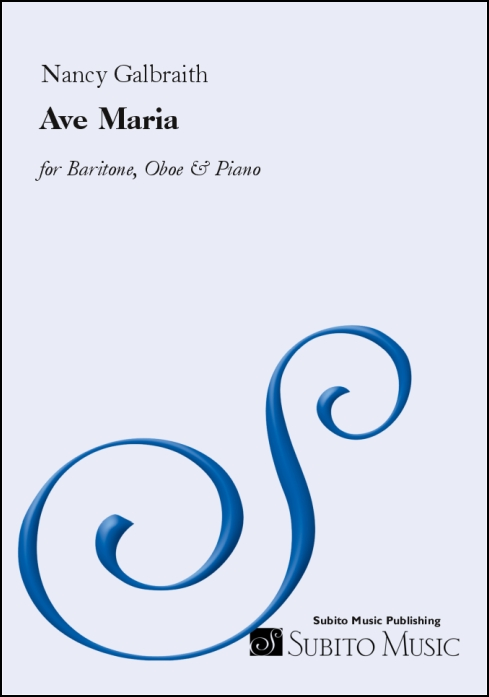 Ave Maria for baritone, oboe & piano