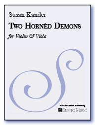 Two Hornèd Demons scherzo for violin & viola