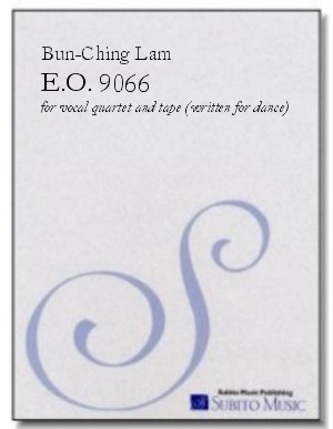 E.O. 9066 for vocal quartet & tape
