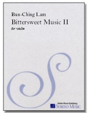 Bittersweet Music II for violin