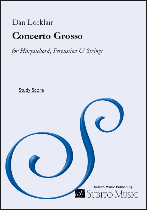 Concerto Grosso for harpsichord, percussion & strings - Click Image to Close